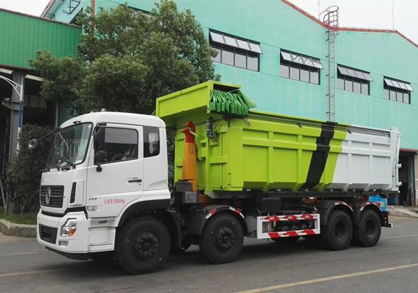 東風天龍25噸鉤臂垃圾車