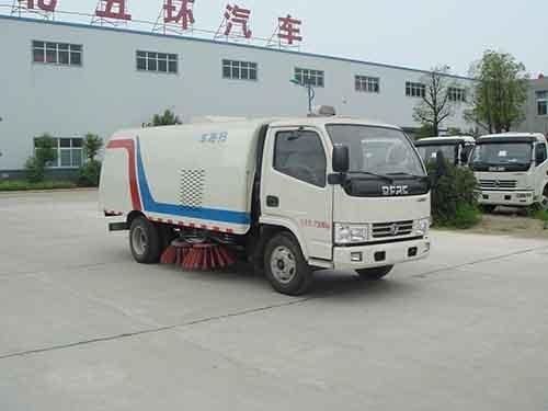 华通牌HCQ5076TSLDFA型扫路车