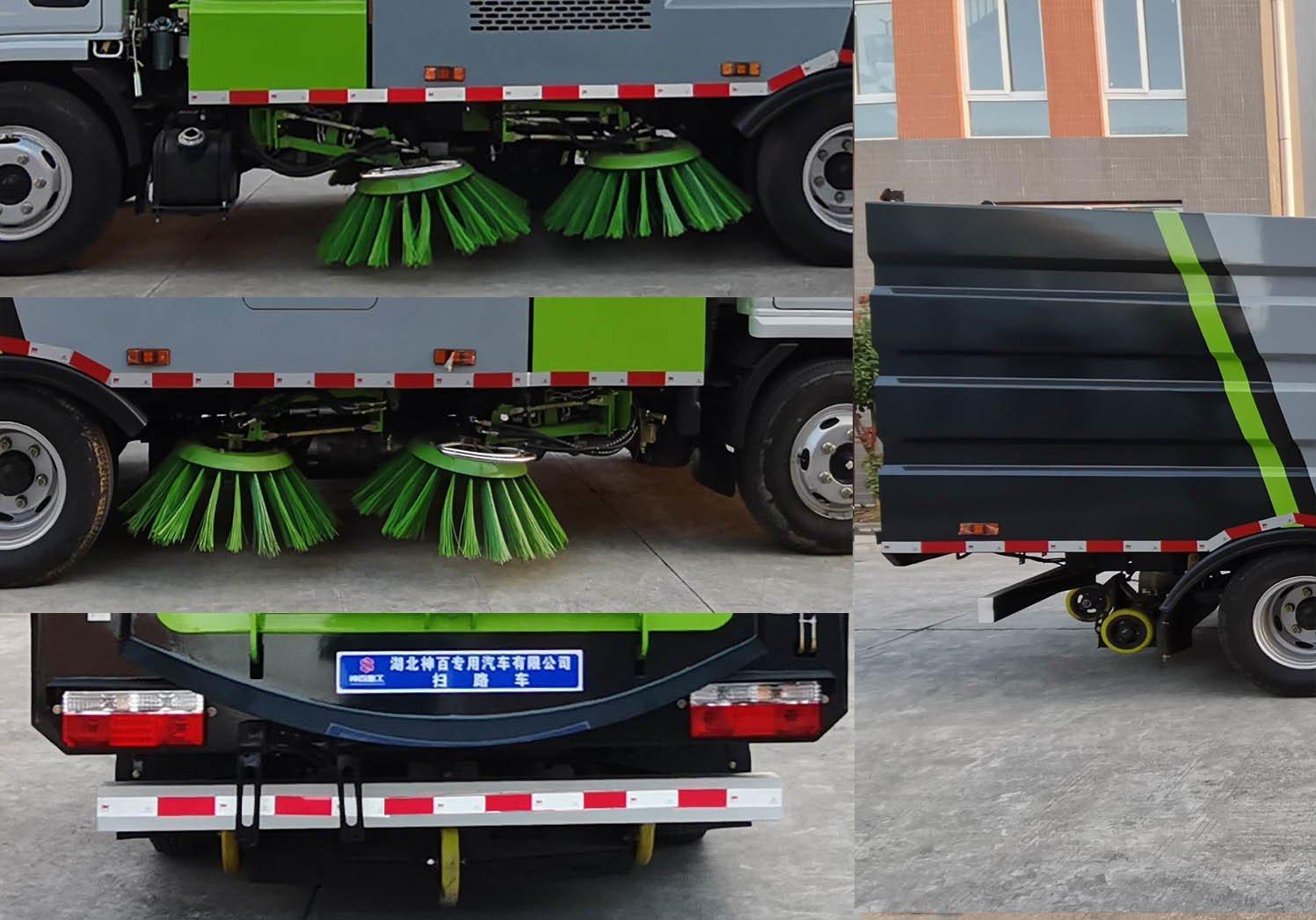 神百重工牌ABC5070TSLE6型扫路车